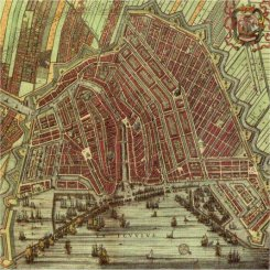 Map of historic Amsterdam, around 1640, when the area around De 9 Straatjes was developed